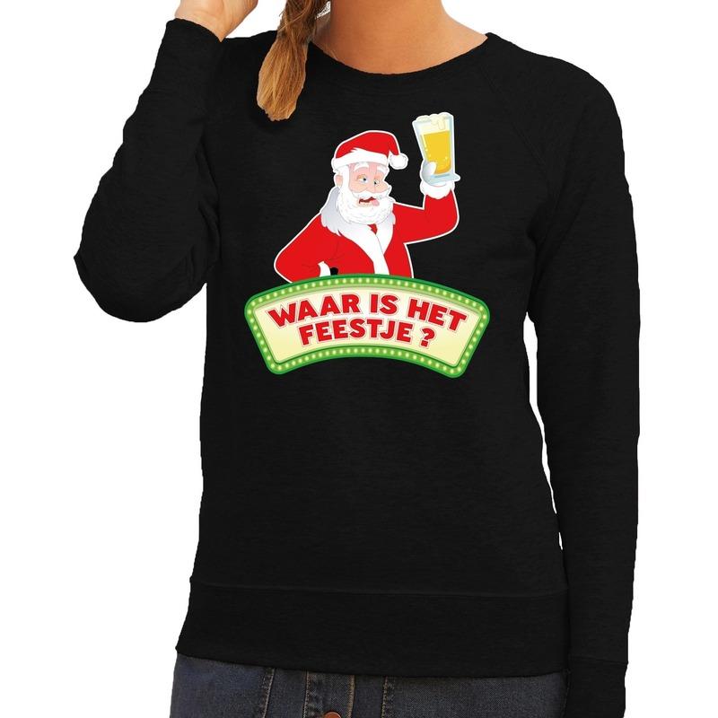 Kersttrui Hert.Foute Kersttrui Zwart Waar Is Het Feestje Voor Dames Bestellen